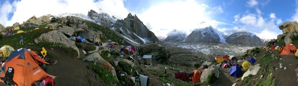 Urdukas panoramica camp 4th stage
